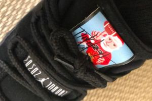 Tinker Hatfield Gifted Signed Santa Claus Air Jordan 11s