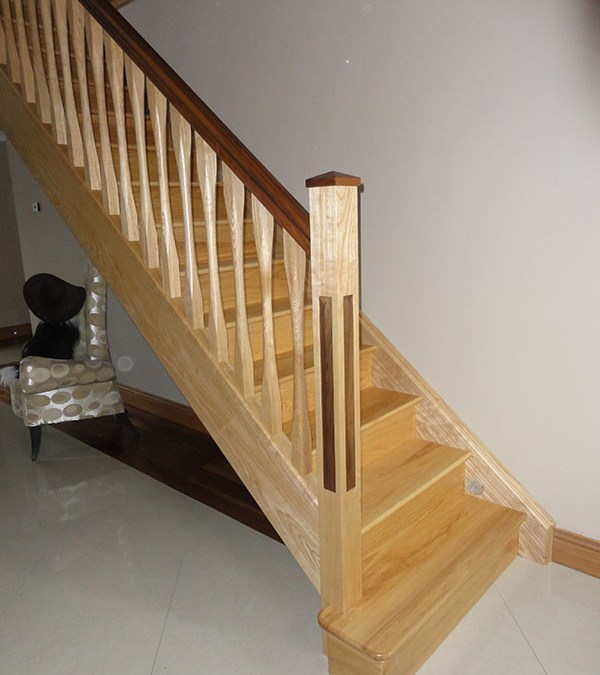 Ash And Walnut Stairs 124