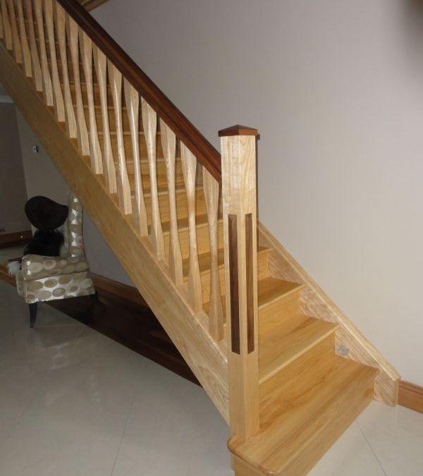 Ash Walnut Stairs 142