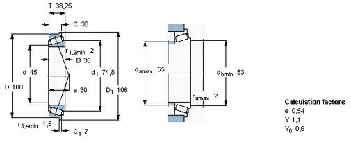 Large Radial Loads And Axial Loads Single Row Tapered