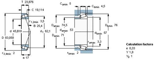 Low Cross Section Single Row Tapered Roller Bearings Open Seal