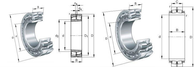 Chrome steel Double Row Spherical Roller Bearing 22218CAK