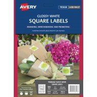 avery crystal clear square