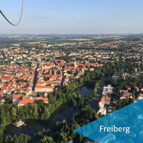 Ballonfahrt in Freiberg und Umgebung