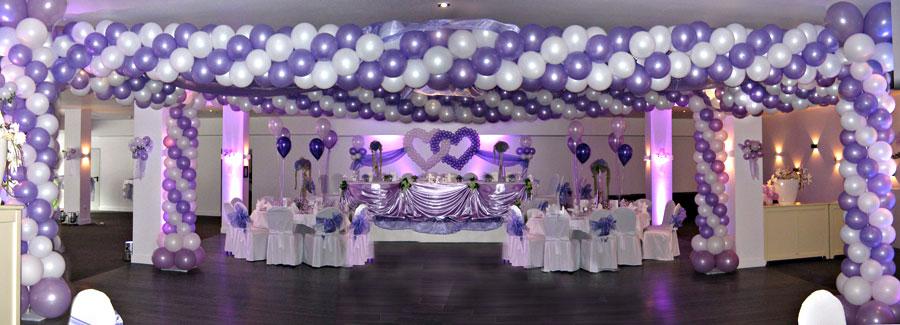 Der Ballonexpert  Hochzeitsdekorationen Ballonherzen Tischdekorationen Hochzeitsbogen NRW