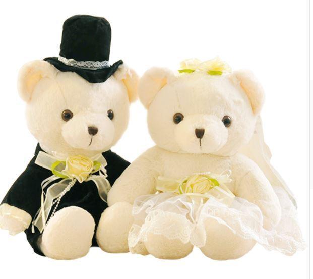 Brautpaar Braut und Brutigam Teddy Geschenk im Ballon