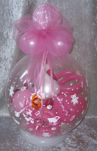 Geschenk Ballon Geburt Storch Geschenk Ballon Geschenkverpackung