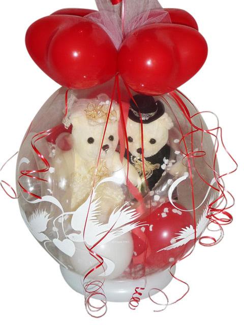 Geschenkballon Hochzeit Brautpaar im Luftballon Geldgeschenk
