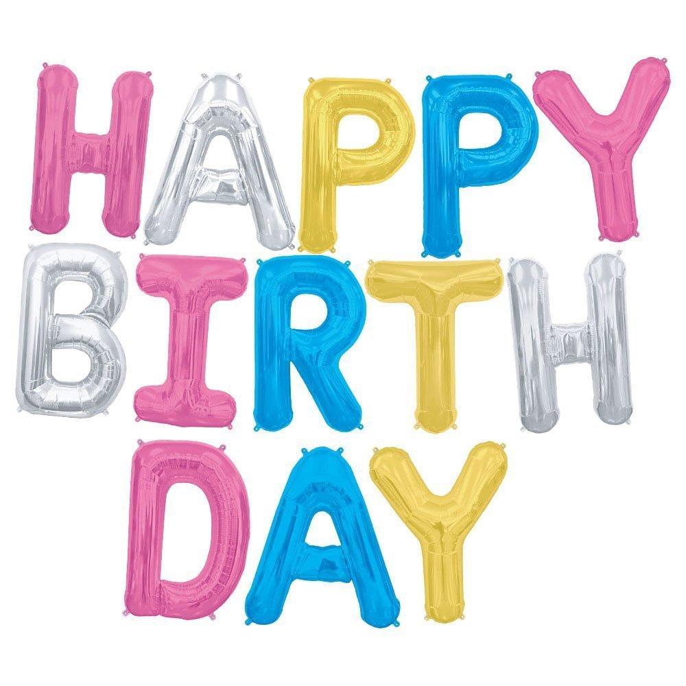 Ballon Buchstaben Geburtstag Happy Birthday Dekoration