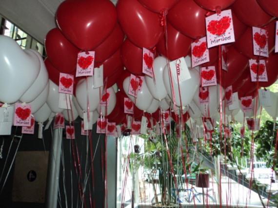 Heliumballone und Weitflge zur Hochzeit oder anderen