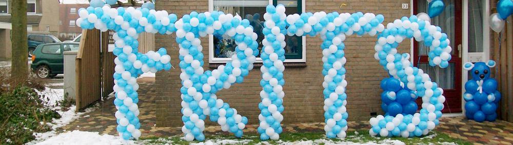 Ballonnendecoratie specials - naam