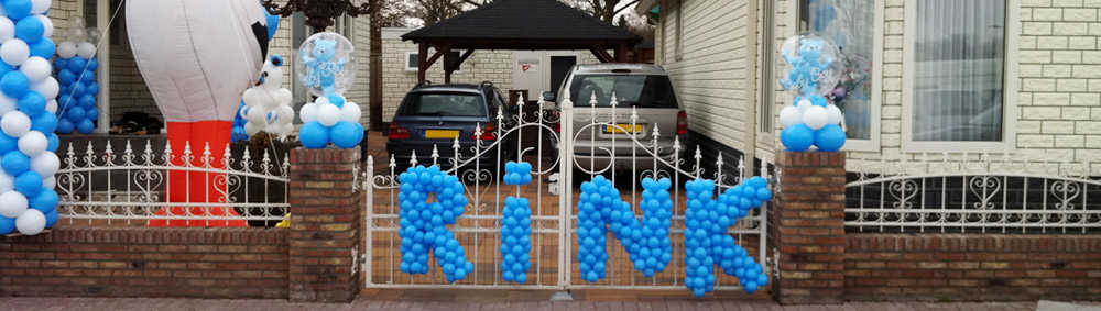 letters geboorte decoratie ballonnen