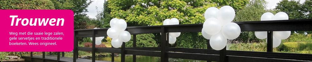 Huwelijksdecoratie van ballonnen
