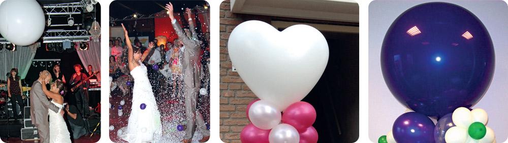 Ballonnendecoratie specials - confettiballon en topballon