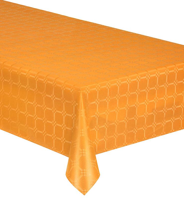 nappe papier damassee couleur orange 6m x 1m20