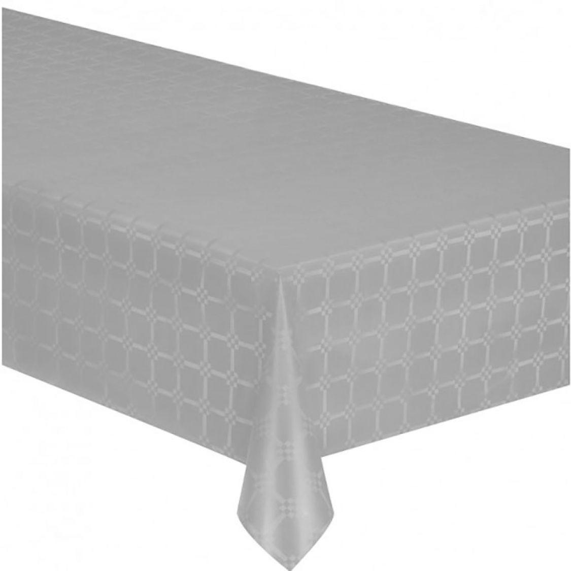 nappe papier damassee couleur gris 6m x
