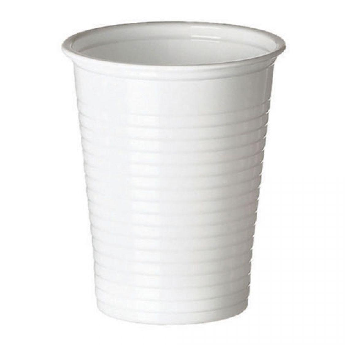 Gobelets Unis En Plastique Blanc