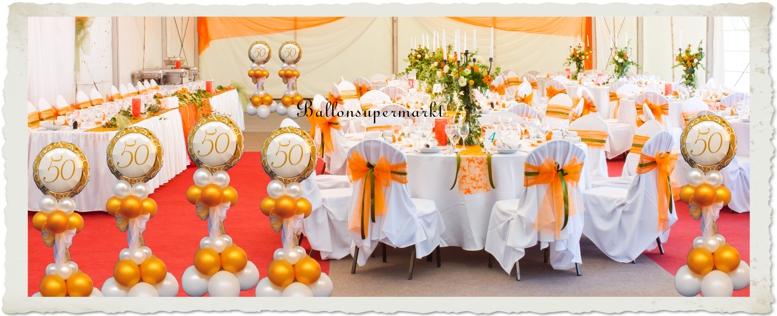 Goldene Hochzeit Dekoration Ballondekoration 1 Goldene