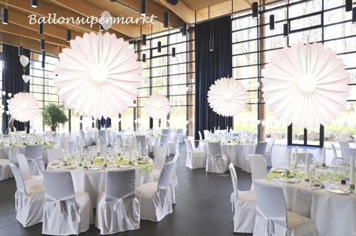 Rosette Wei 75cm Festdekoration Hochzeit
