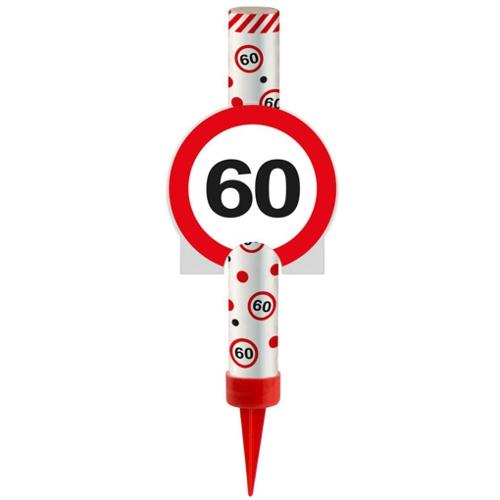 Eisfontne Verkehrsschild 60 Dekoration zum 60 Geburtstag und Jubilum