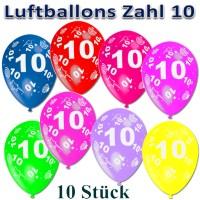 Ballonsupermarkt Onlineshop.de   Luftballons mit der Zahl ...