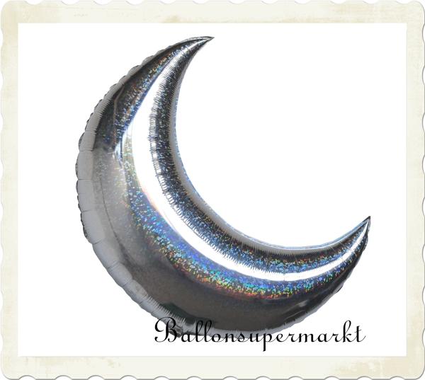 Luftballon Mond Silbermond Folienballon mit Ballongas