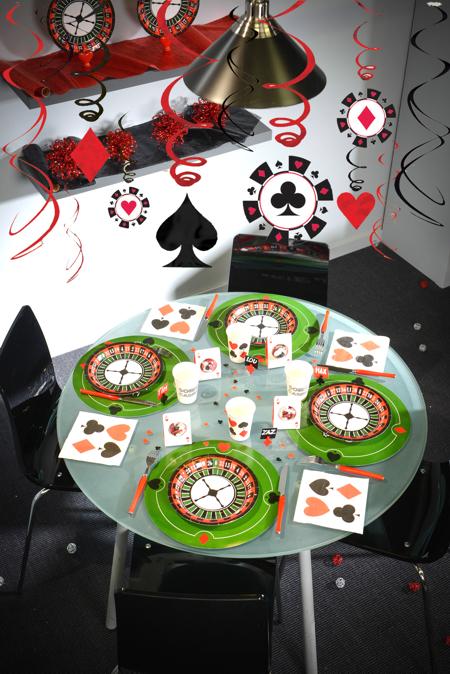 Dekorations-Hänger Swirls Casino-Party-Dekoration ...