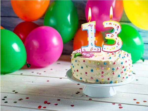 Zahlenkerze 1 Colorful Geburtstagsdekoration