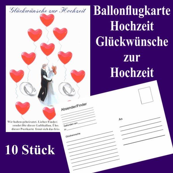 Ballonflugkarten Hochzeit Glckwnsche zur Hochzeit 10