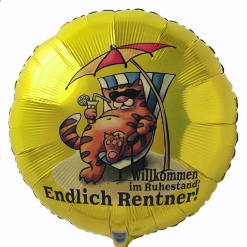 Folienballon Endlich Rentner Willkommen im Ruhestand