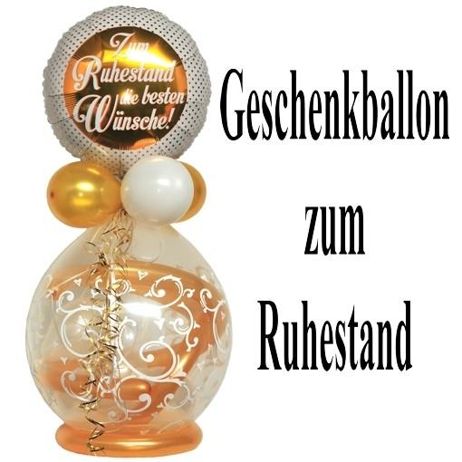 Geschenkballon Stufferballon Zum Ruhestand die besten