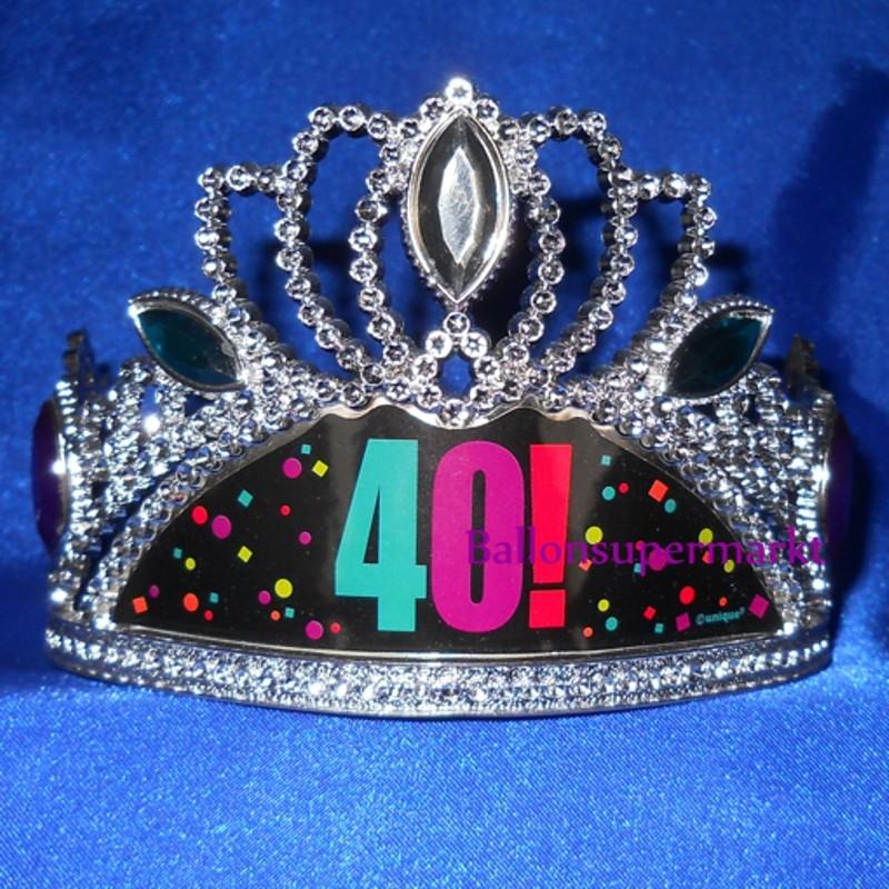 Krone zum 40 Geburtstag Dekoration zum 40 Geburtstag