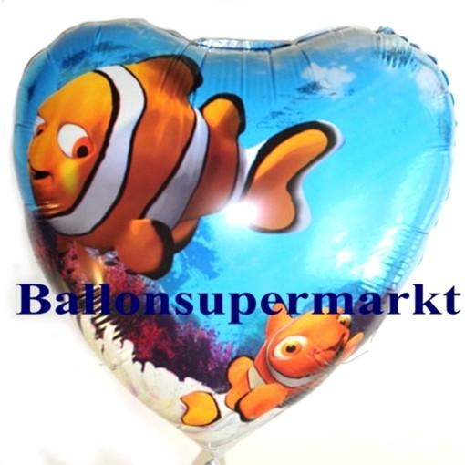 Folienballon Nemo Under the Sea Herz Folienballon mit