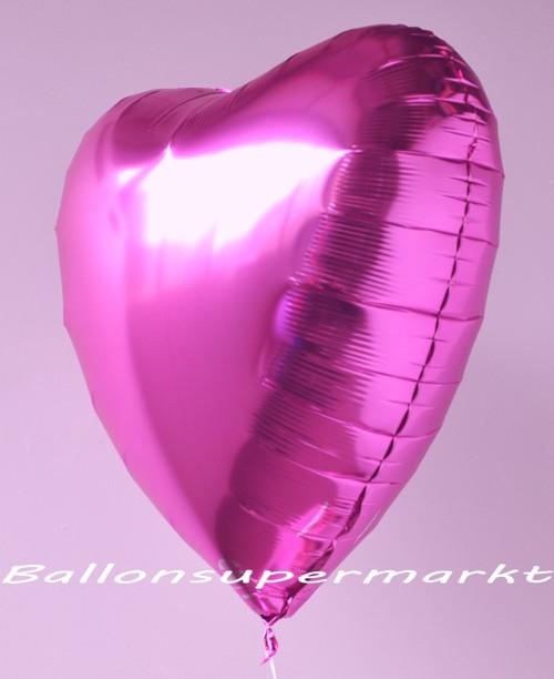 Herz Jumbo pink ungefllt  Folienballons Herzen 8090