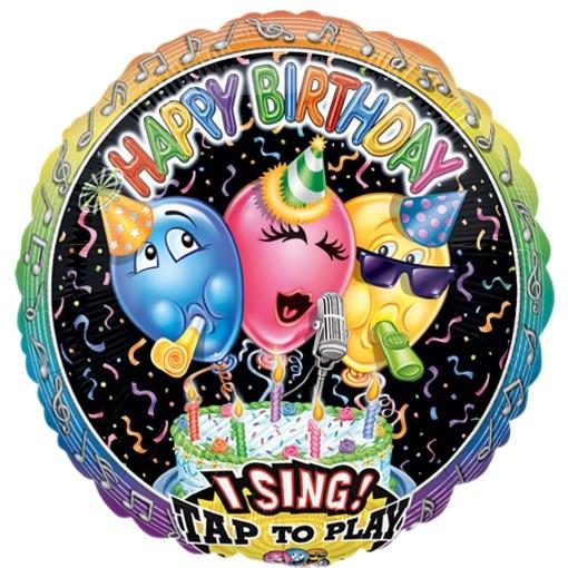 Singender Ballon Happy Birthday Happy Concert ungefllt