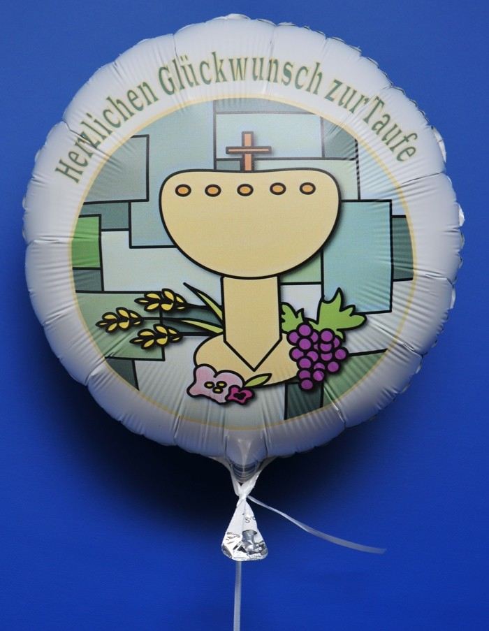 Folienballon Herzlichen Glckwnsch zur Taufe