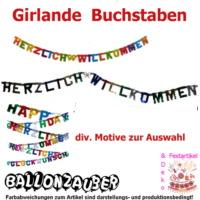 Girlande Herzlich Willkommen bunt Reisen Karneval Fasching ...
