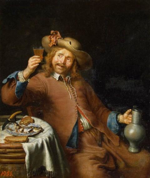 Pieter_Cornelisz._van_Slingelandt_-_Breakfast_of_a_Young_Man_-_WGA21471