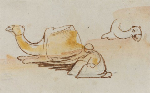 Edward_Lear_-_Camel_studies_-_Google_Art_Project