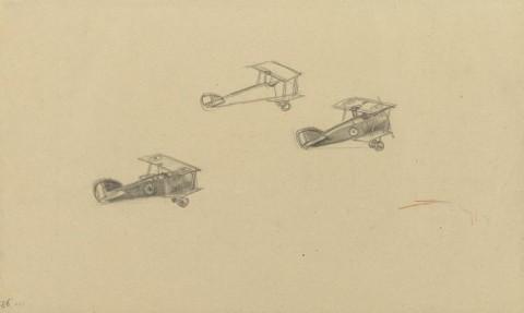 Three_Sopwith_Camels_in_Flight,_1918_Art.IWMART4511