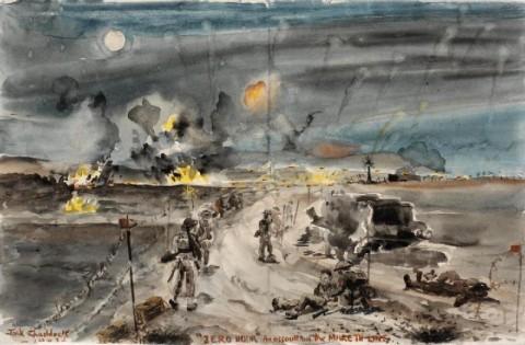 Zero_Hour-_the_Mareth_Offensive,_1943._Cameron_Highlanders_Art.IWMARTLD3398