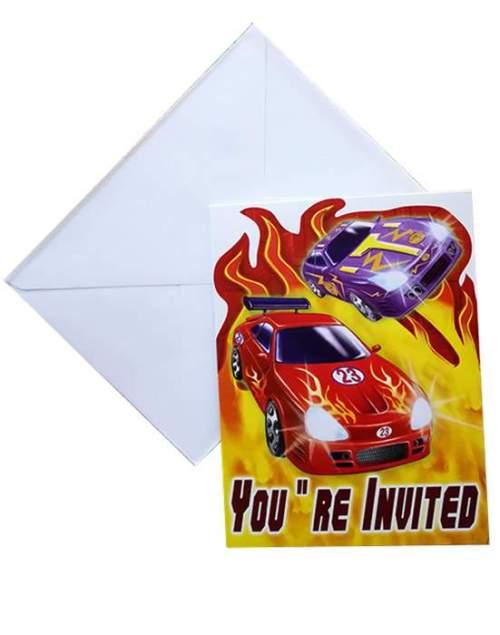 Προσκλητήρια για πάρτυ Αυτοκίνητα ράλλυ (8 τεμ)