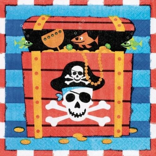 Χαρτοπετσέτες μεγάλες με πειρατές (16 τεμ)