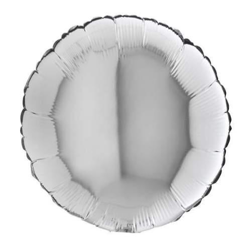 Μπαλόνι ασημί στρογγυλό 18''