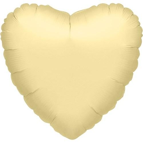 """Μπαλόνι καρδια Ιβουάρ περλέ 32"""""""