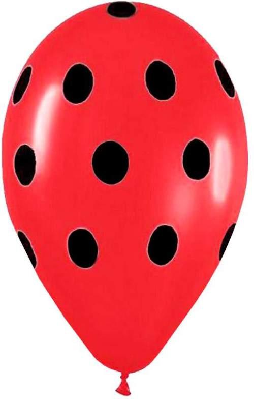 Μπαλόνι τυπωμένο κόκκινo με μαύρο πουά