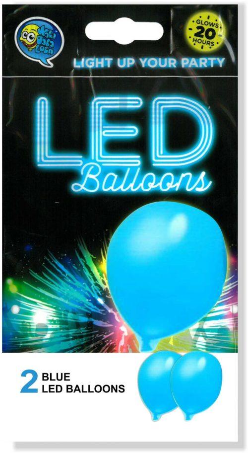 Γαλάζιο Μπαλόνι με φωτάκι LED (2 τεμ) φωτεινά μπαλόνια