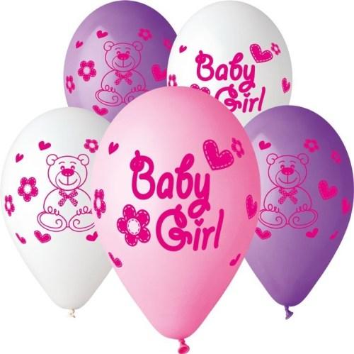 Μπαλόνι τυπωμένο Baby girl αρκουδάκι