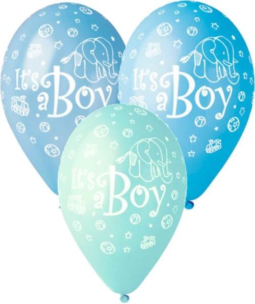 Μπαλόνι τυπωμένο Its a boy ελεφαντάκι