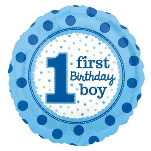 Μπαλόνι για γενέθλια Γαλάζιο First Birthday Boy